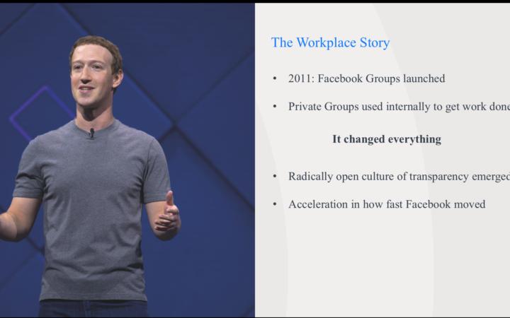 Facebook workplace. Keyzz peut vous aider à le mettre en place dans votre société