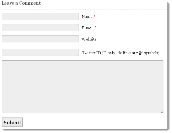 Un formulaire de contact vous demandant l'adresse de votre site